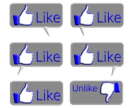 multy: Like icon in multy style in Talking plate