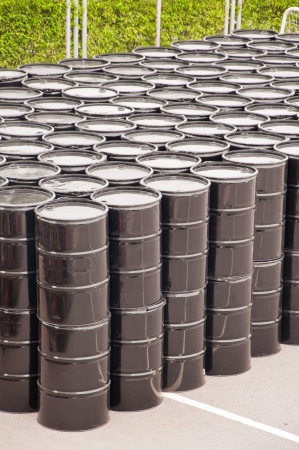 oil barrels or chemical drums stacked up Stock Photo - 13972710
