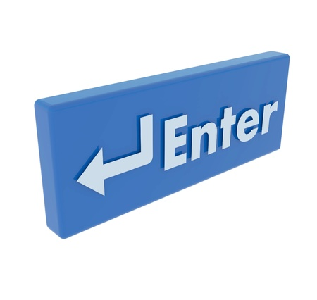 Colored of Enter button to isolate with white background Stock Photo - 14182979
