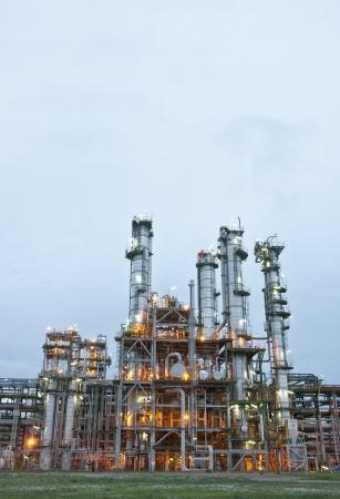 Morning scene of chemical plant , Maptaphut industrial, , Eastern of Thailand  photo