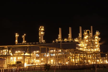 Chemical industrial in the night with beautiful lighting, Maptaphut industrial , Thailand Stock Photo - 15306915