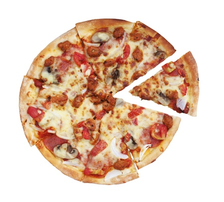 Pizza isolated with white back ground