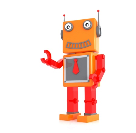 robot toy by three dimensional software Stock Photo - 15782984