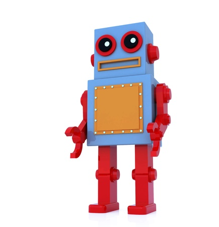 robot toy by three dimensional software Stock Photo - 15782988