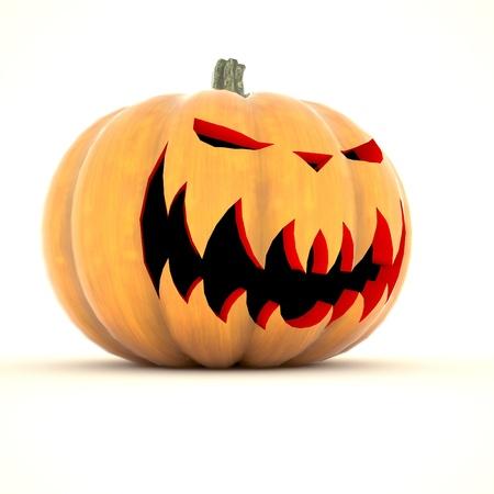 citrouille halloween: Citrouille d'Halloween isol� sur fond blanc Banque d'images