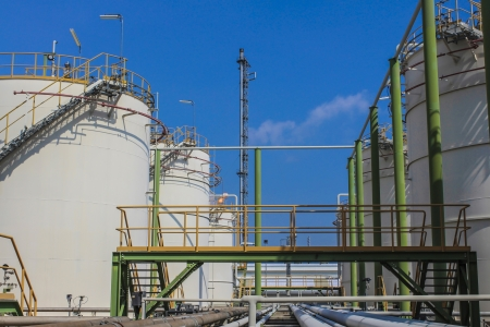 Structure of Oil and chemical factory in day time Stock Photo