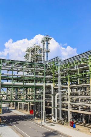 Structure of Oil and chemical factory in day time photo