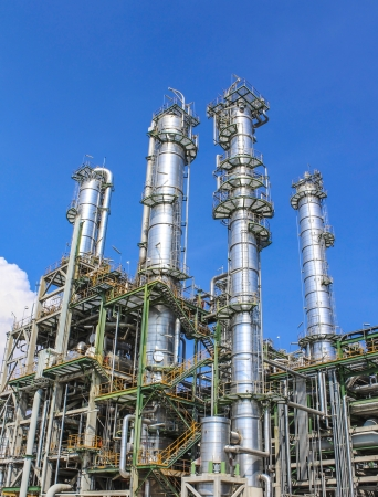 day time: Structure of Oil and chemical factory in day time Stock Photo