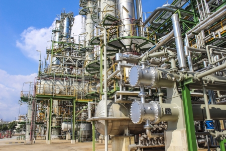 chemical industry: Structure of Oil and chemical factory in day time Stock Photo
