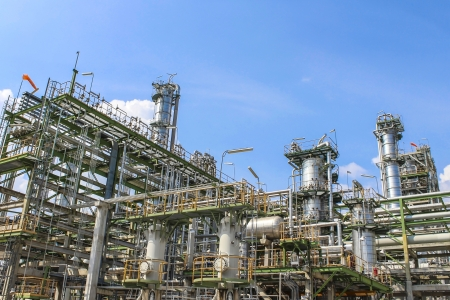 oil refinery: Structure of Oil and chemical factory in day time Stock Photo