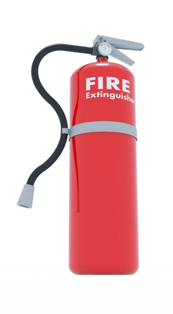 Fire extinguisher made from three dimensional software Stock Photo - 16269574