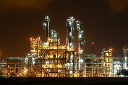 Night scene of chemical plant , Eastern of Thailand Stock Photo - 16348832