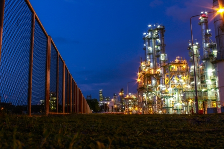 cloud industry: Night scene of chemical plant , Eastern of Thailand