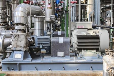 Pump station in chemical factory Zdjęcie Seryjne