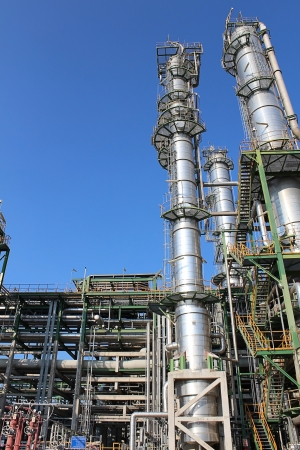 Petroleum and chemical plant with blue sky