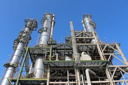 Petroleum and chemical plant with blue sky Stock Photo - 17465824