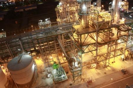 Night scene of petrochemical Plant