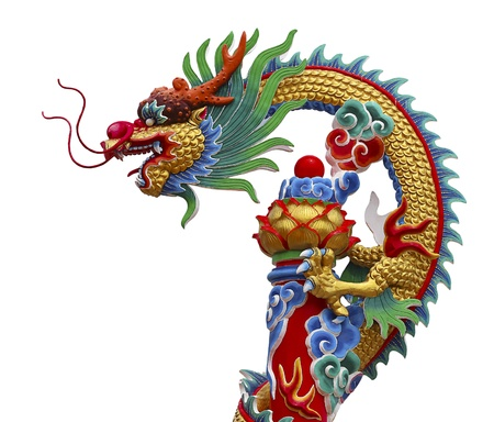 chinese dragon: Colorful of chinese dragon statue