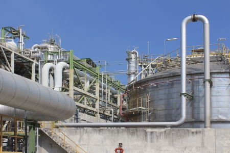 Chemical Plant in summer day photo