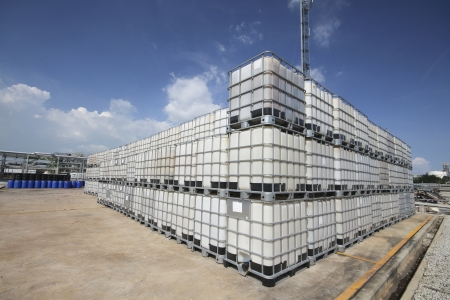 Plastic tank container for keep liquid chemical  photo