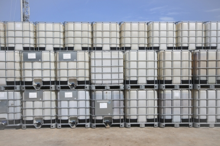 Plastic tank container for keep liquid chemical