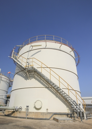Chemical tank storage in industrial plant