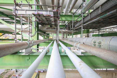 Structure with piping in chemical plant