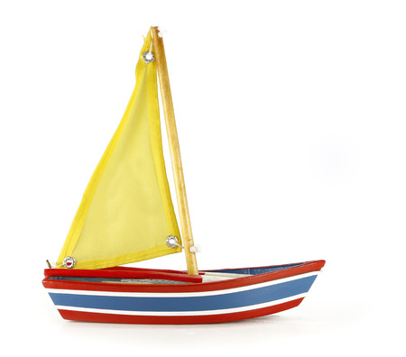 Beauty full of Boat toy on white background