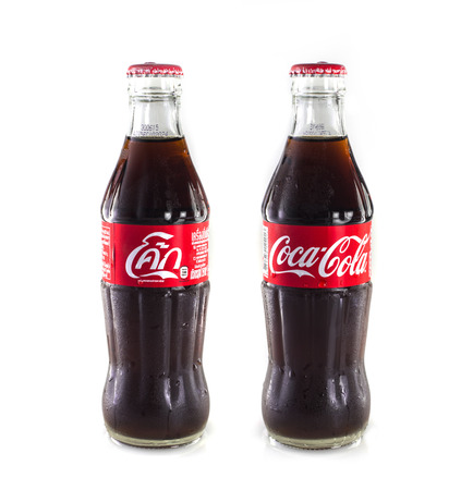 milliliters: Thailand , Rayong - September 04, 2014: Photo of 25 milliliters size of Coca-Cola. Coca-Cola is the most popular favorite carbonated beverages.