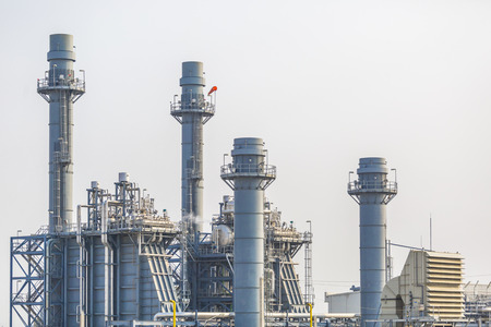 turbina de vapor: Planta de potencia de la turbina de vapor en temporada de verano, Tailandia