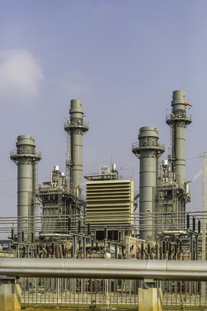 steam turbine: Steam turbine power plant in summer season , Thailand
