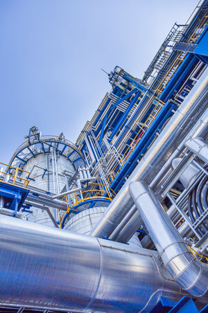 oil and chemical industrial factory Stock Photo