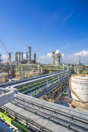 gas industry: Petroleum plant with blue sky Stock Photo