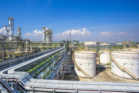 Petroleum plant with blue sky Stock Photo