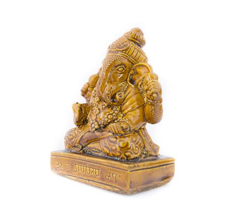 ganapati: Ganesha statue on white background