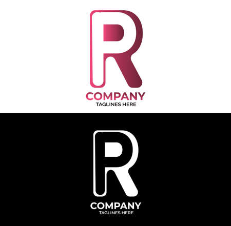 Initial letter logo PR, RP, logo Design With two Color.