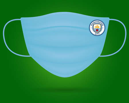 Surgical Face Mask With Manchester City Football Club  in Covid-19, Wear Mask & Stay safe, New Normal- Corona Virus Pandemic.