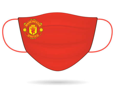 Surgical Face Mask With Manchetster United Football Club  in Covid-19, Wear Mask & Stay safe, New Normal- Corona Virus Pandemic.