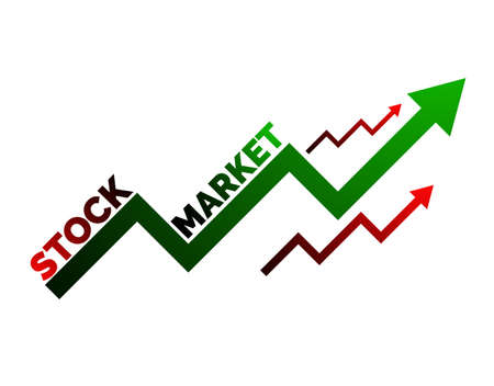 Economic graph stock market, for business and financial concepts and reports. Abstract white background