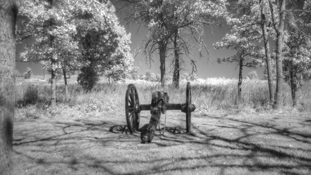 battlefield: Wilsons Creek Battlefield in Springfield, Missouri Stock Photo