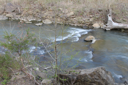den: Roaring creek at Devils Den State Park in Arkansas Stock Photo