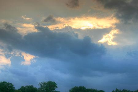 missouri: Cloudy skies over Joplin, Missouri Stock Photo