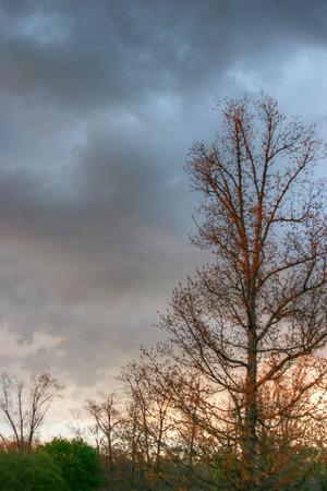cloud formations: Cloudy skies over Joplin, Missouri Stock Photo