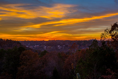Sunset skies over Eureka Springs, Arkansas