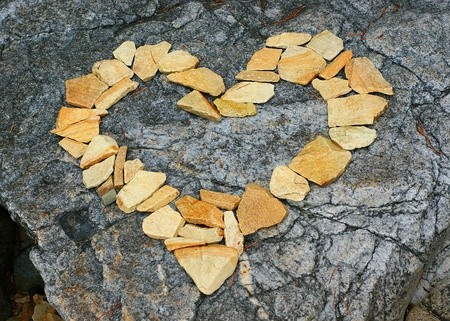 stone cold: Yellow heart of stone.