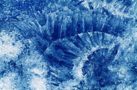 Very beautiful ice pattern. Stock Photo