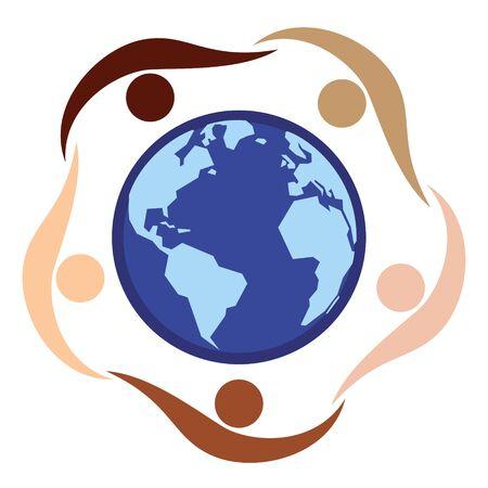 Global Diversity Illustration Vetor Background