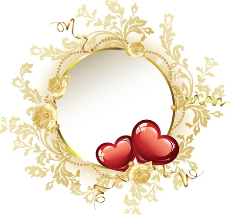 Vintage Frame Valentine Illustration