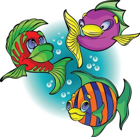 funny cartoon: Funny fish