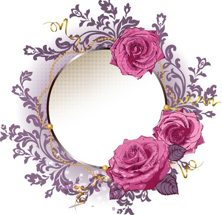 Frame with pink roses eps10. Stock Vector - 11651143